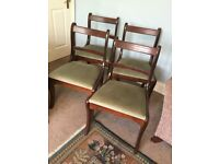 4 Dining Room Chairs Four Vintage / Retro Mahogany Excellent condition