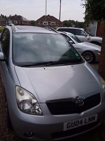 Toyota corolla verso 1.8 Tspirit 2004 very clean & reliable family car..