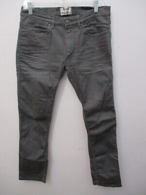 ACNE STUDIOS Grey MAX SHADOW Jeans Pants Size 32 X 30