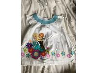 Girls Disney Store Frozen Top 5-6 yrs