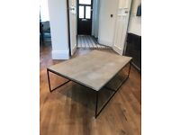Concrete grey used large coffee table RRP £619