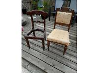 2 Antique Chairs ( upcycle )
