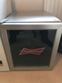 Budweiser mini fridge.