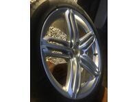 "Genuine Audi 19"" alloy wheel 5 tri segment 8.5j"