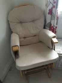 Cream Nursing Chair and Footstool - Excellent condition