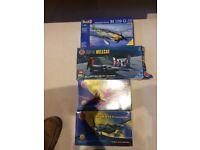 3 airfix and 1 Revell aircraft model kits