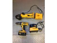 Dewalt battery dril/driver And grinder 18v