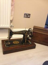 Old singer sewing machine with original case