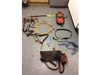 Chainsaw, arborist climbing gear