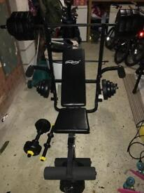 Weights bench equipment