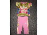 Adidas Baby girl tracksuit 3-6 mths.