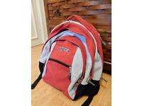 Red: Grey comfy JanSport Bagpack