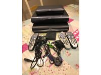 TWO SKY+ HD BOXES FOR SALE. ONE SKY HD BOX AND ACCESSORIES