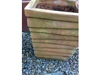 XL terracotta garden pot planter nicely weathered