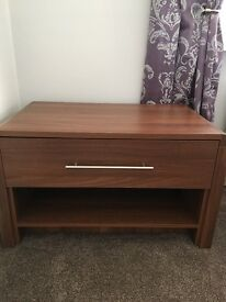 Tv stand / coffee table in walnut colour