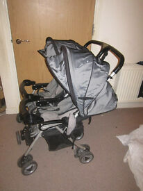 side by side twin pushchair