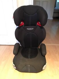 Graco car seat hardly used , goes into a booster too.