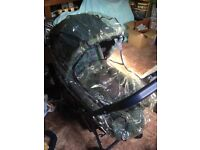 Lovely Mothercare stroller birth to 4 yrs plus extras. Two John Lewis cosy toes. Over top cot/cotbed