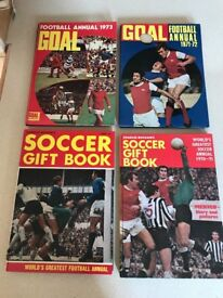 Selection of Football Annuals from the 1960/70/80s