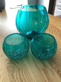 Three glass bowls