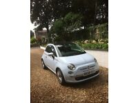 Reduced in price-Fiat 500, 1.2 Multijet Diesel in Powder Blue with unique Red Leather interior