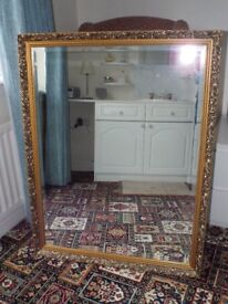 Large Mirror within Antique look Frame