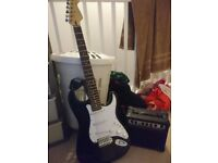 Cruiser by crafter electric strat fender stratocastor copy guitar ,no amp,would swap for bass