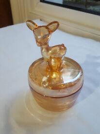 Vintage Deer Candy/Sweets Glass Bowl
