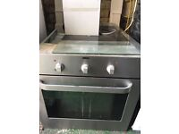 Zanussi integrated electric oven with extractor hood