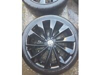 4 Black alloy wheels 18 inc for SALE !