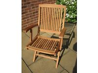New Premier Bali Teak Garden Chair -Folding