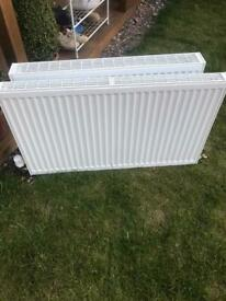 2 panel radiators convector 1000x600 single 800x600 double with trv and lockshields
