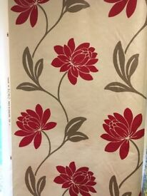Large roll of high quality Floral Patterned Cotton curtain material