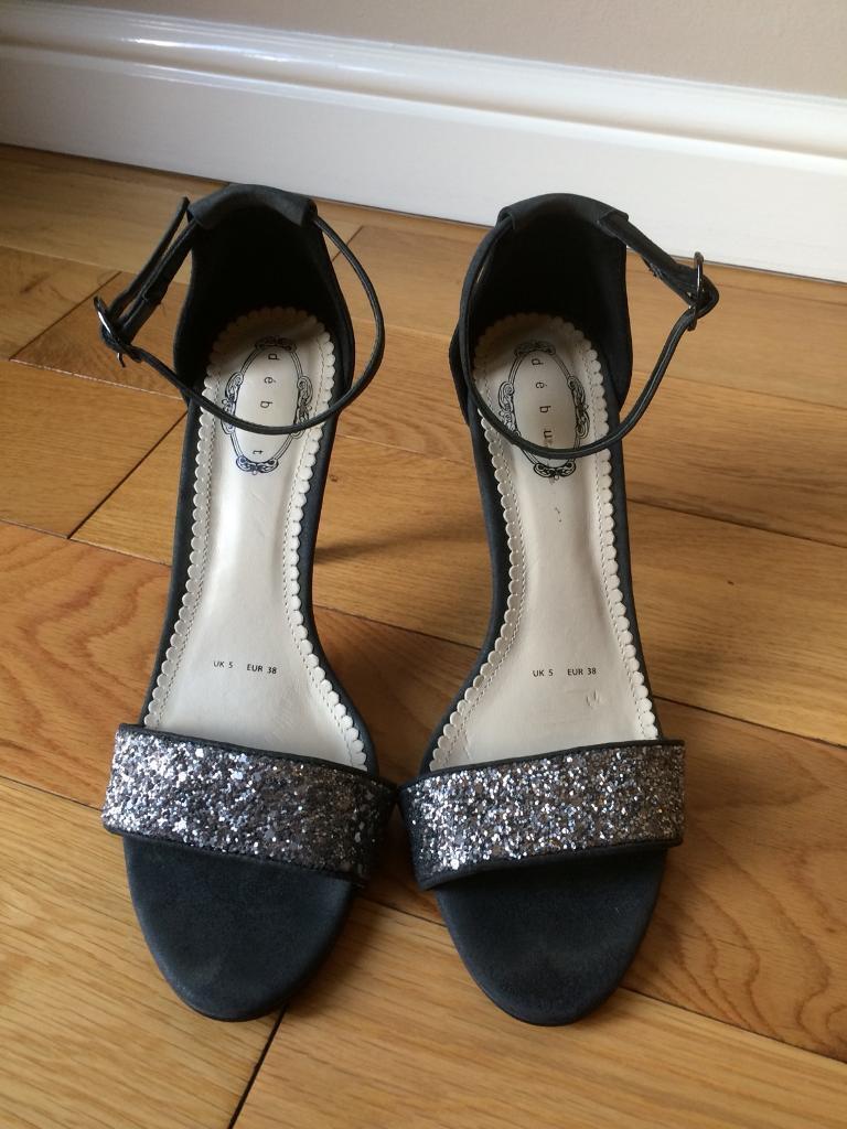 Debut Grey High Heel Shoes Size 5
