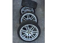4 x 5x112 Audi Volkswagen Alloys Good tyres