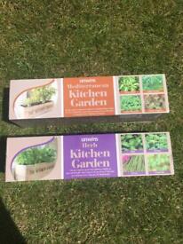 Kitchen top Garden herb pots