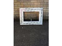 White UPVC window frame.