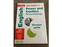 Collins AQA GCSE 9-1 'Power And Conflict' Poetry Anthology Revision Guide