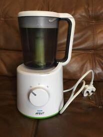 AVENT steamer blender weaning system.