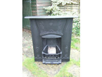 CAST IRON RECLAIMED FIREPLACE,FULLY RESTORED.