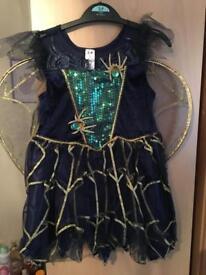 Girls Halloween Light Up Spider Costume 3-4 years