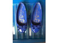 Bluezoo Size 4 Flat Shoes ( Blue )