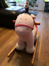 mama&papas pink rocking horse
