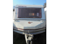 Sprite Alpine 2 Berth Touring Caravan With Rear Kitchen Area And Awning!!