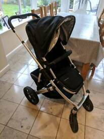 UPPAbaby Vista Jake Black Pushchair Single Seat Pram / Stroller