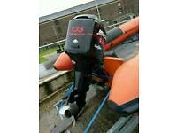 Mercury 135HP optimax outboard with stainless prop and very low hours for RIB / Boat.