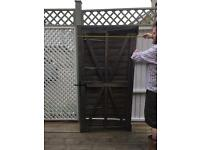 Free Wood Garden Gate with Latch and Hinges
