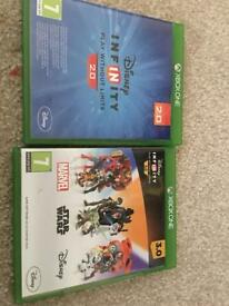 Xbox one Disney Infinity 2.0 & 3.0 games and figures