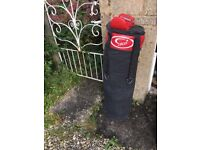 Full size punch bag and gloves