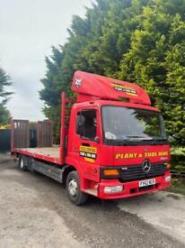 Mercedes Atego 7.5 ton Beaver tale lorry on air
